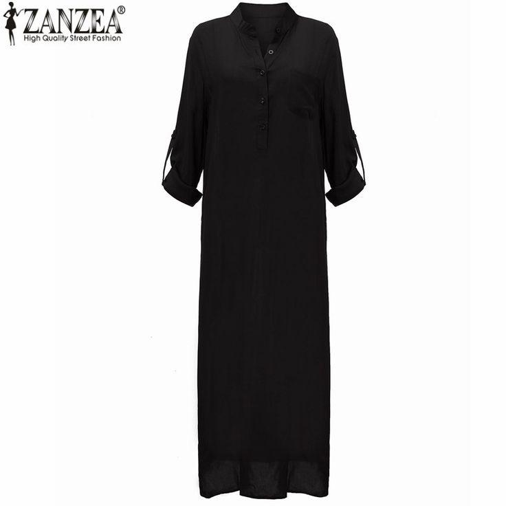 Zanzea Мода Свадебные Платья 2016 Лето Женщины Сексуальное Платье С Длинным…