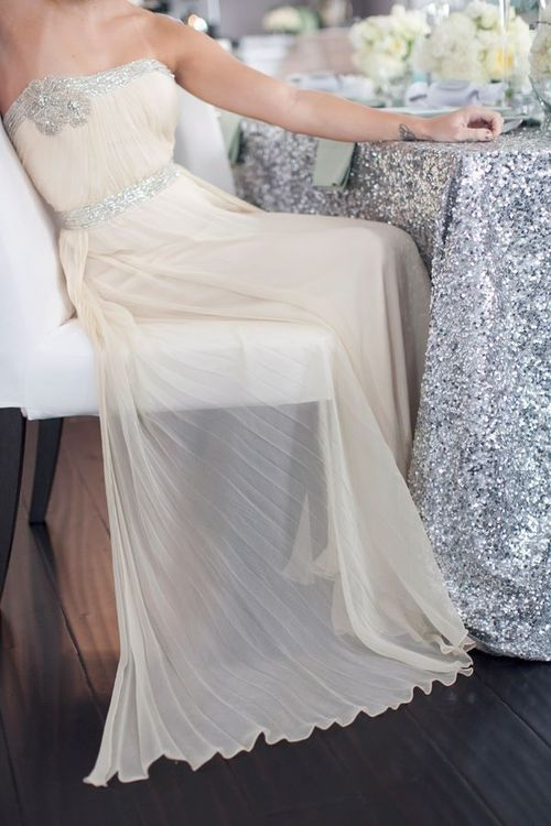 sheer and sequin wedding
