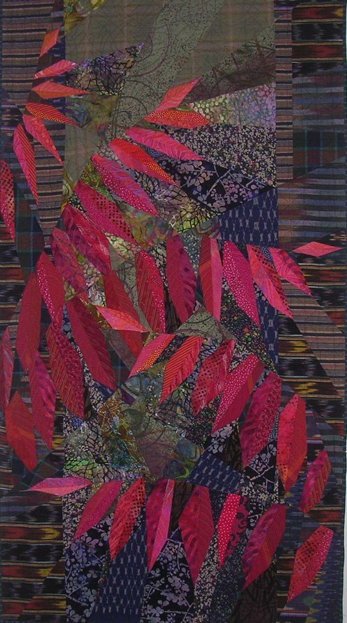 ruth mcdowell quilts  sumac Medium to dark values; warm color makes the design read.