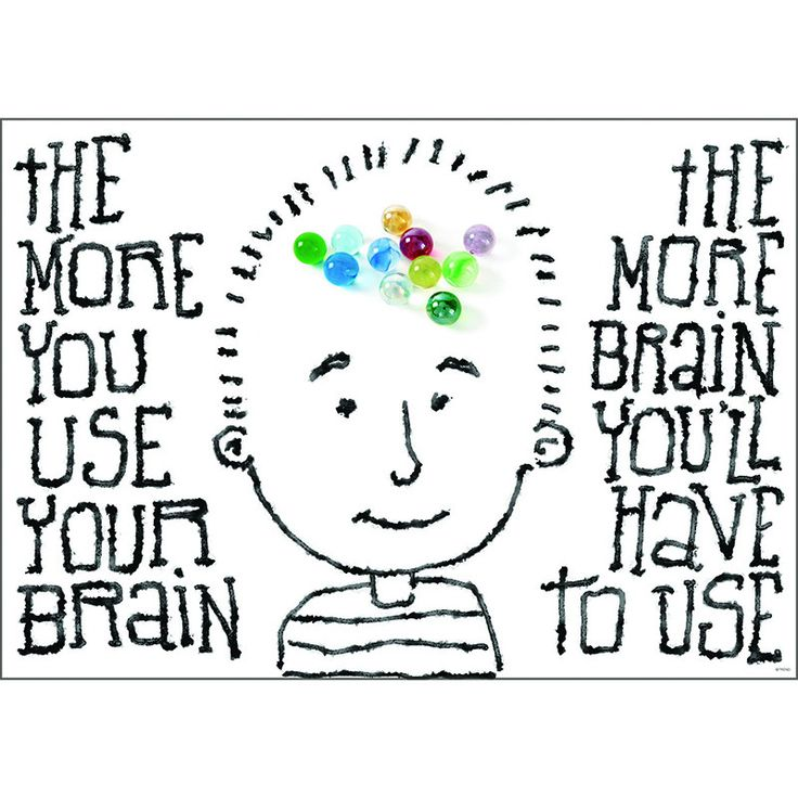 THE MORE YOU USE YOUR BRAIN POSTER                                                                                                                                                                                 More