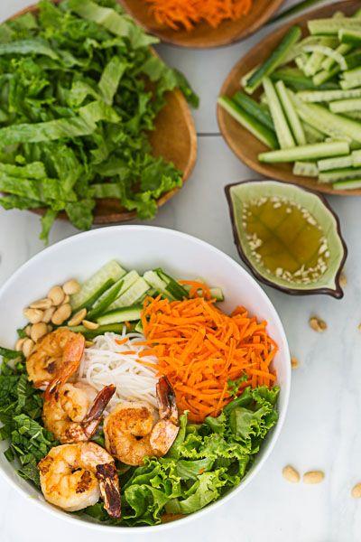 Shrimp Vermicelli Bowls (make with tofu instead)