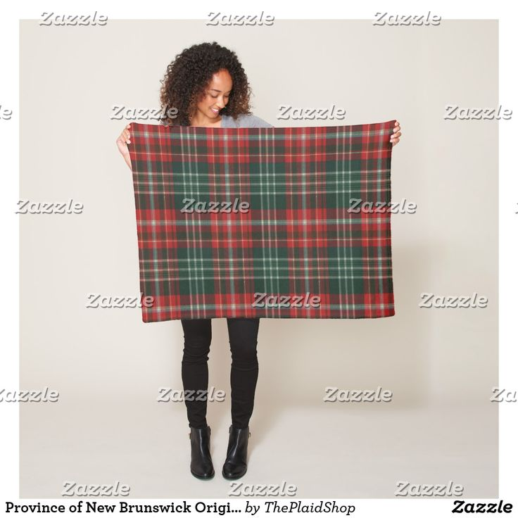 Province of New Brunswick Original Tartan Fleece Blanket SOLD!  To a customer in St. Hilaire, Canada.  Thank you!