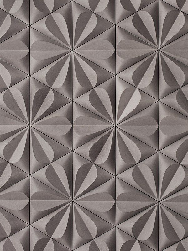 details we like pattern tiles grey flower shape triangles at - Wall Designs With Tiles