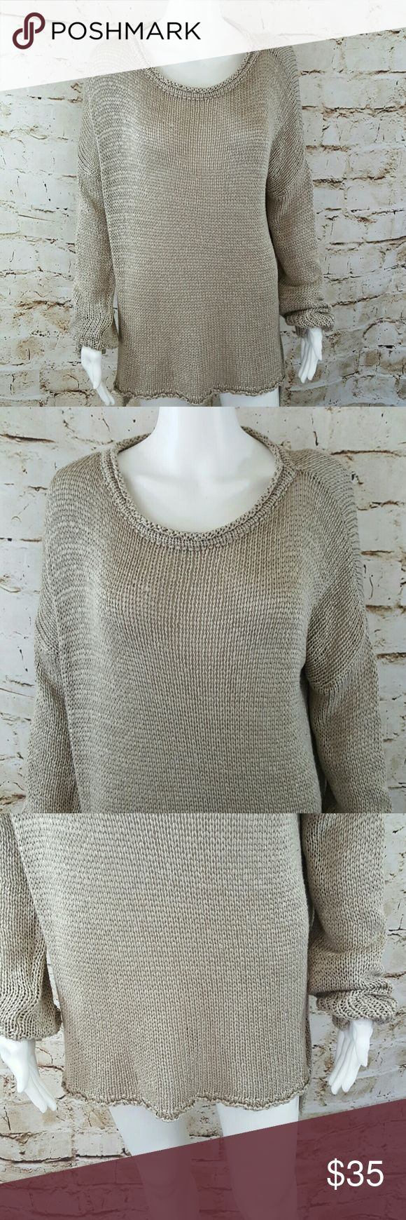 """Brandy Melville one size fits all sweater Excellent condition oversized comfy fit high low hem 23"""" across from armpit to armpit and 24"""" long from shoulder to hem in front and 27"""" long from shoulder to hem in back Brandy Melville  Sweaters"""