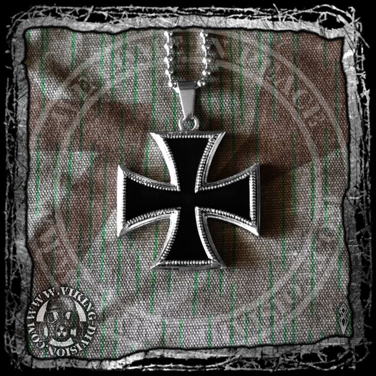 Iron Cross Medal Pendant - Based on the original medal, it is quality made of stainless steel, and comes with an necklace chain. Available from our webstore.