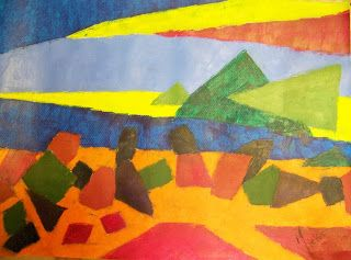 A Pretty Talent Blog: Painting A Cubist Abstract Landscape In Oils