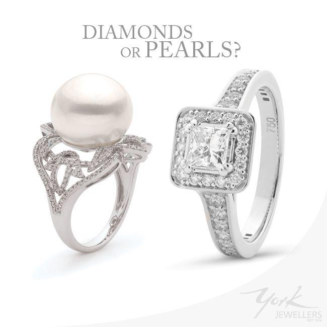 Diamond Rings or Pear Rings  By York Jewellers