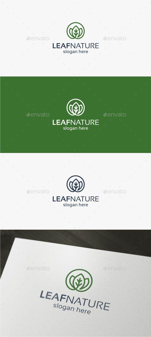 Leaf Nature Logo Template Vector EPS, AI Illustrator. Download here: http://graphicriver.net/item/leaf-nature-logo/16844793?ref=ksioks
