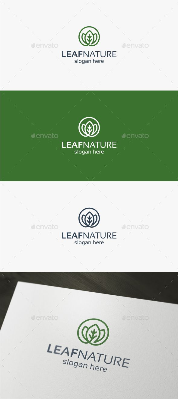 Leaf Nature Logo Template Vector EPS, AI Illustrator. Download here: http://graphicriver.net/item/leaf-nature-logo/16844793?ref=ksioks