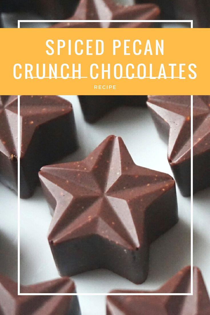 Raw Vegan Spiced Pecan Crunch Chocolates Recipe  Find more recipes on www.romylondonuk.com