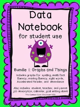 Data Notebook for Student Use - The Common Core Classroom - TeachersPayTeachers.com