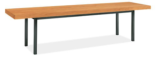 Handcrafted by artisans, the Morris bench makes itself useful in any room. It works as extra seating at your kitchen table, a place to put on boots in the entryway or to hold folded blankets at the end of your bed. A fresh combination of wood and your choice of natural or stainless steel gives this bench a contemporary feel.