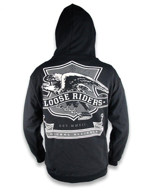 Loose Riders Herren EAGLE Kapuzenpullover.Tattoo,Biker,Oldschool,Rockabilly Styl