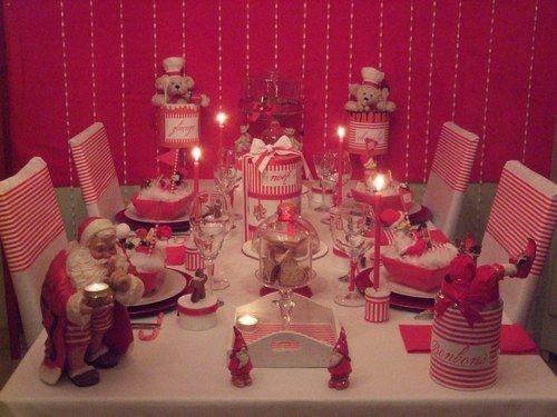 43 best images about no l diy d coration de no l on pinterest christmas t - Deco table noel rouge ...