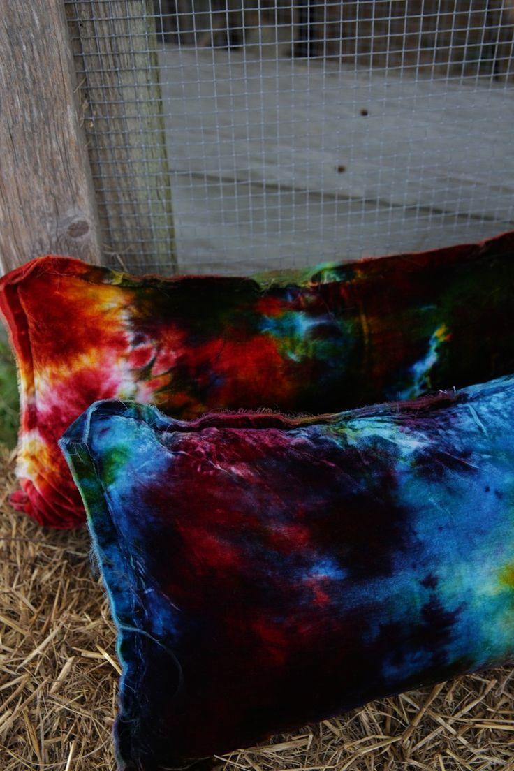 Gypsy dreams VELVET TIE DYE PILLOW - Junk GYpSy co.