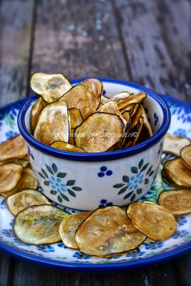 Puur & Lekker leven volgens Mandy: Knapperige Courgette Chips