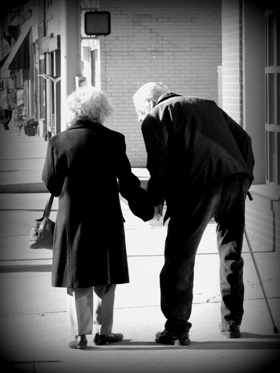 Still In Love Photograph Older Couple Holding Hands Black and White Photography, Americana, Americana Art on Etsy, $25.00