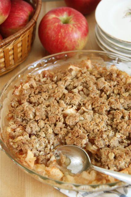 Easy Gluten Free Apple Crisp Recipe // SmashedPeasandCarrots.com                                                                                                                                                                                 More