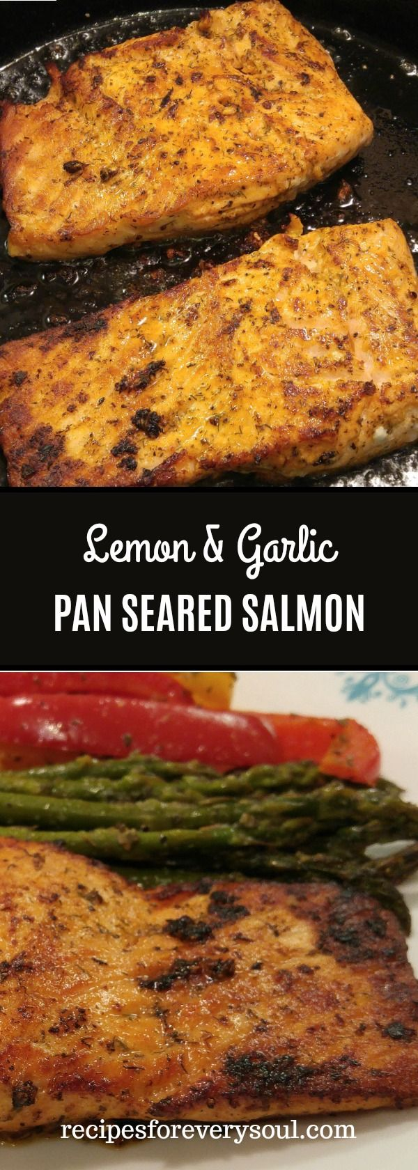 If you are on the hunt to add some variety into your diet but don't want to spend a lot of time cooking, this is the ideal recipe. This pan seared salmon is easy to make and delicious. Enjoy this with vegetables and rice!