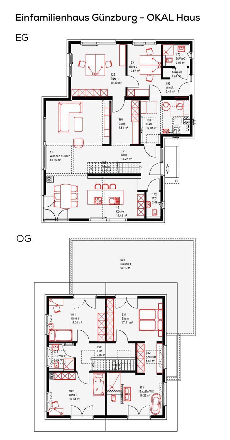 Grundriss Einfamilienhaus Mit Nebengebaude Einliegerwohnung 6 Zimmer 250 Qm Grundriss Einfamilienhaus Okal Haus Einliegerwohnung
