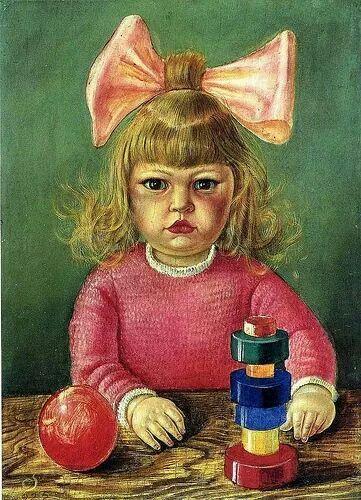1925 Artist's Daughter Nelly by Wilhelm Heinrich Otto Dix (1891~1969)