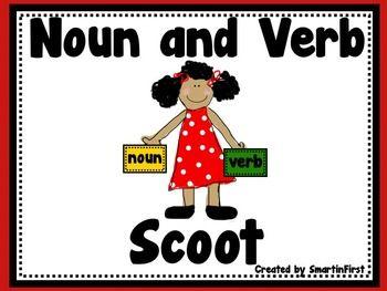 Noun and Verb Scoot Freebie