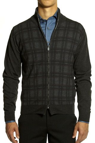 Corneliani Men's Merino Wool Cardigan | The Helm Clothing | Edmonton, AB
