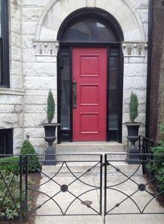 pop of red on the door