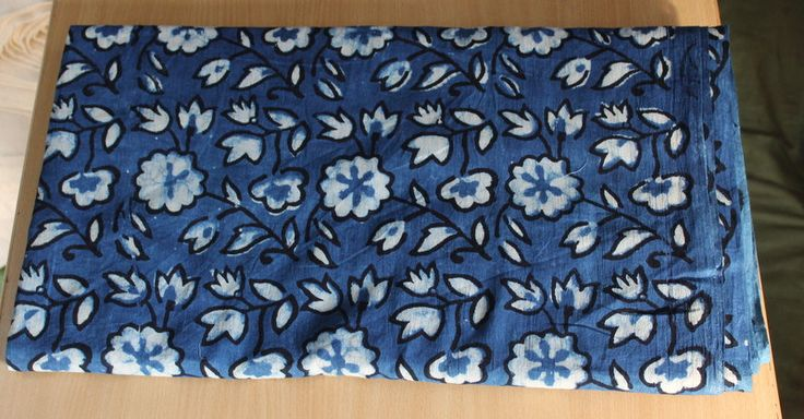 2.5 yard Indigo Blue print 100% cotton fabric Dabu Print Fabric Hand Block Print Fabric dress Fabric Hand Made Fabric Flower Design Fabric by BLOCKPRINTFABRIC on Etsy
