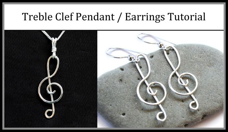 Learn how to make simple and easy treble clef jewelry with beginner wire-wrapping techniques. This quick design can be used for pendants, earrings, or bracel...