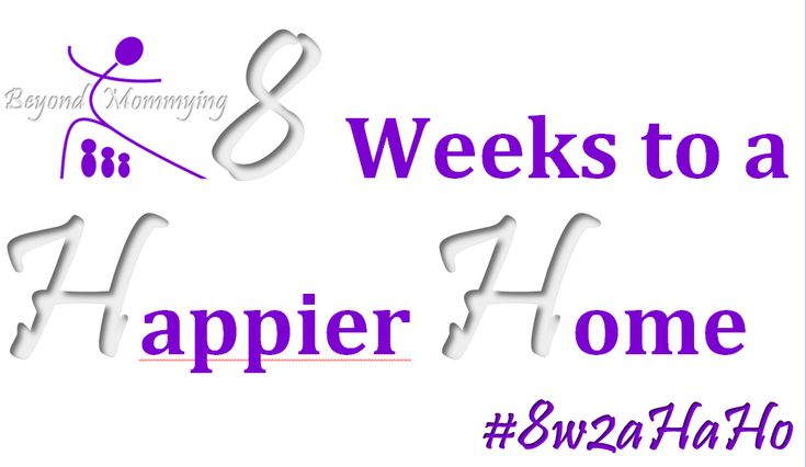 Join the movement to clean and organize your home, step-by-step, week-by-week, room-by-room!  http://www.beyondmommying.com/blog/2014/05/12/8-weeks-to-a-happier-home/