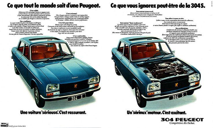 Publicité Peugeot - 1975 - Peugeot 304 S - automobile -