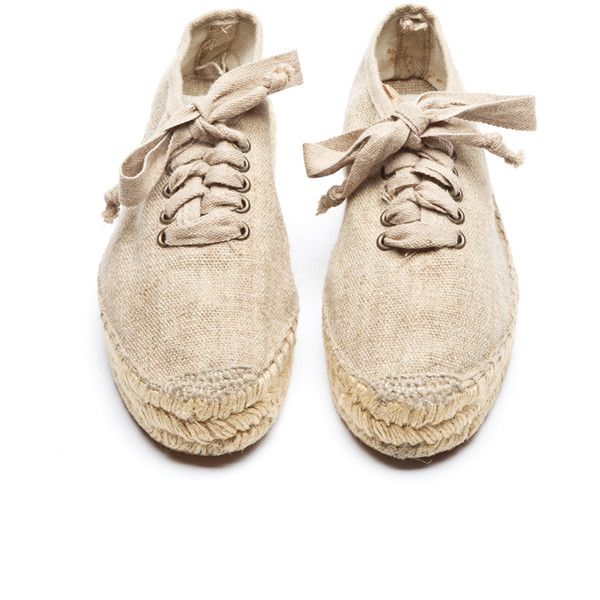 Lydia Lace-Up Espadrilles (500 CNY) ❤ liked on Polyvore featuring shoes, flats, sneakers, обувь, chaussures, women, 80s fashion, flat shoes, lace up shoes y women shoes
