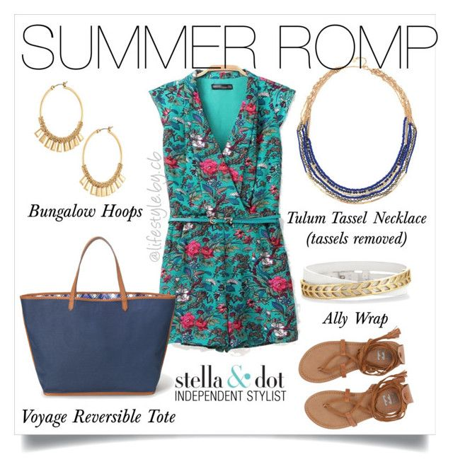 """""""A romp in the summer isn't complete without Stella & Dot!"""" by cathy-bartlett on Polyvore featuring Stella & Dot"""