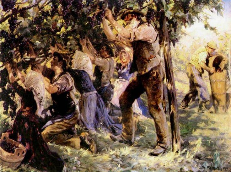 Wine Harvest in Tyrol by Peder Severin Kroyer