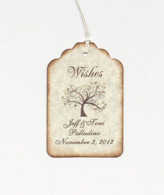 The 25 best elegant wedding favors ideas on pinterest wedding 50 custom personalized wedding wish tags wedding favors elegant wedding tags on etsy junglespirit Gallery