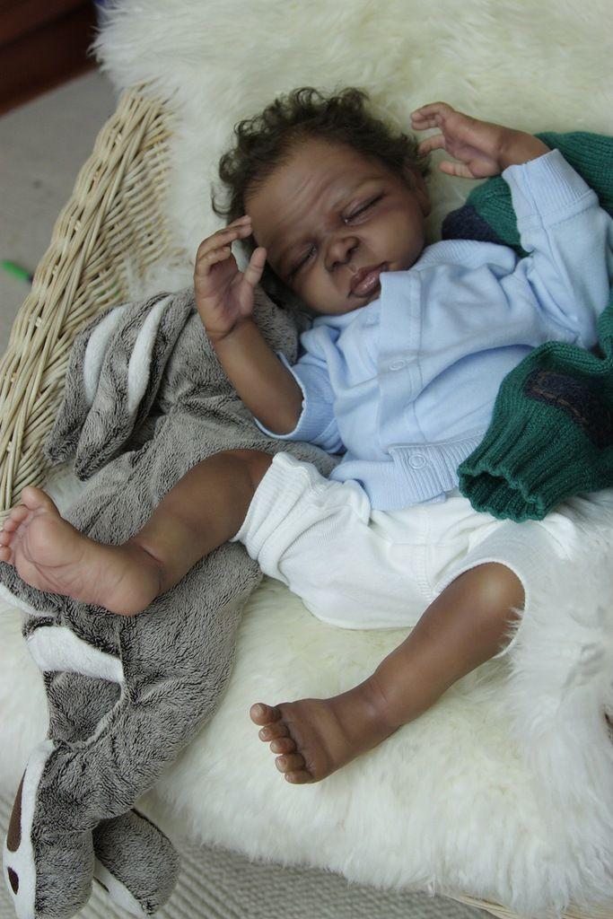 Biracial Reborn Baby Doll Callum Prototype By Kathryn