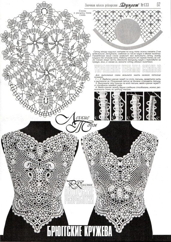 Irish Bruges Lace Doily Crochet Patterns by RussianCrochetBooks, $7.13