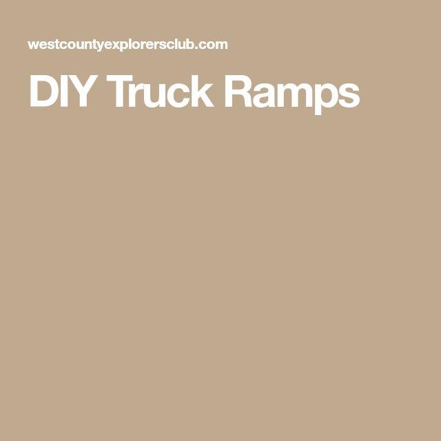 DIY Truck Ramps