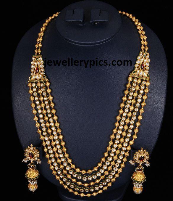 Latest Gold gundla mala  gundla haram designs by VBJ - Latest Jewellery Designs jewellerypics.com