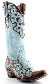Old Gringo Marrione Boots Brass And Aqua Boots Style L836-1