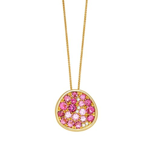 Bellini 18k Gold and Pink Tourmaline Pendant from Hamilton Jewelers on shop.CatalogSpree.com, your personal digital mall.