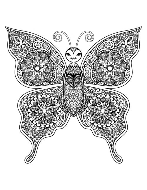 beautiful butterfly art therapy adult coloring pagescoloring booksmandala animalsbooks