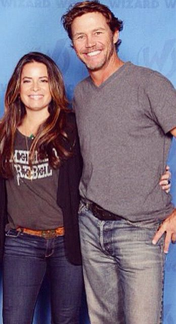 Holly Marie Combs (Piper) and Brian Krause (Leo)