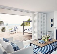 A perfect seaside retreat. Nautical | Strips |style inspiration | seaside.