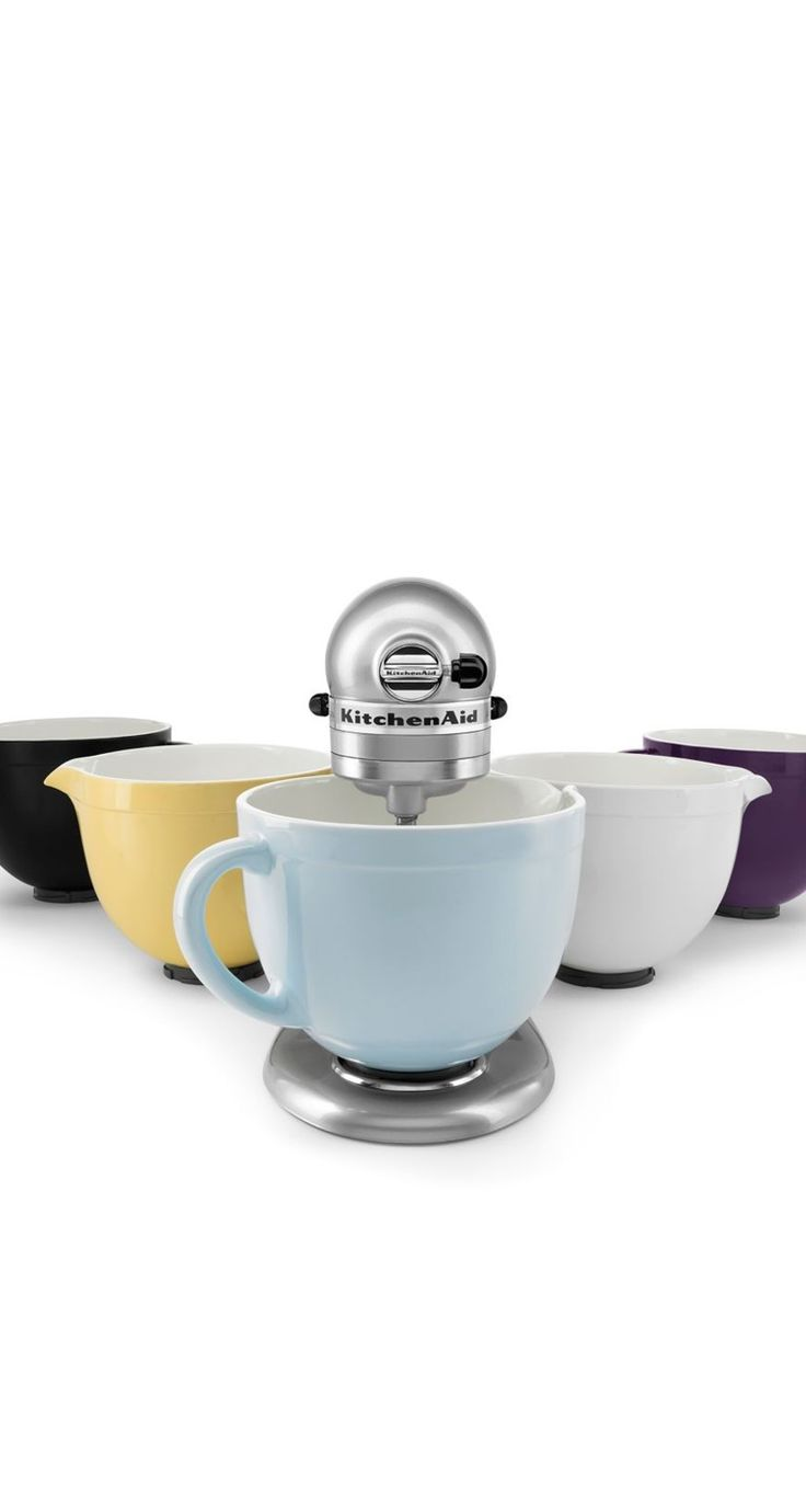 Ceramic bowls for your KitchenAid® stand mixer.  They are Dishwasher, freezer + microwave safe.  What more could you ask for?
