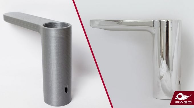 Chrome plating can add a metallic effect to plastic objects.