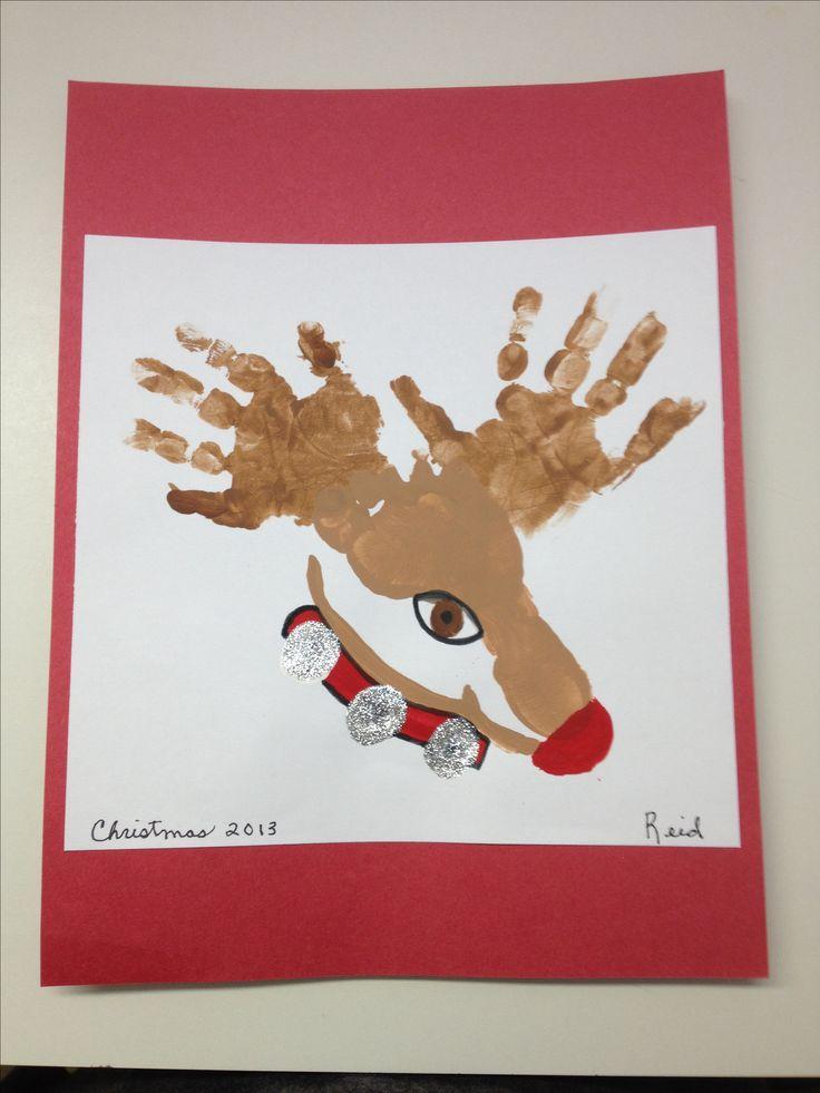 Reindeer hand & footprint art.