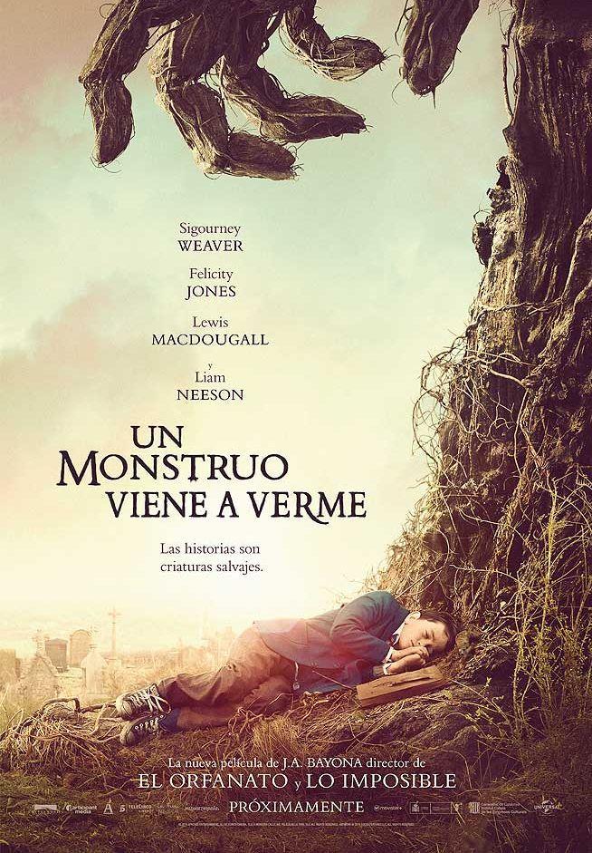 Cartel Un monstruo viene a verme, de J.A. Bayona. APPA: Sandra Hermida (Productora Ejecutiva y Directora de Producción)
