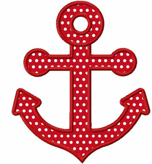 Instant Download Anchor Applique Machine Embroidery Design NO:1160